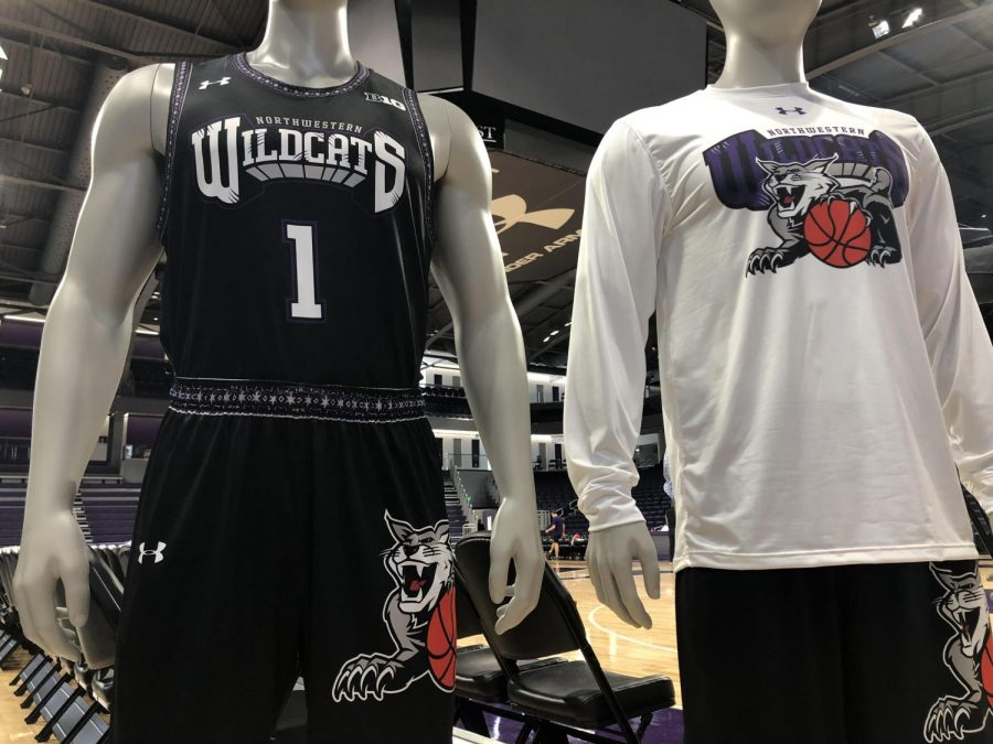 "This year's ""By the Players"" uniforms. For the second year in a row, NU's seniors designed custom Under Armour uniforms for Senior Day."