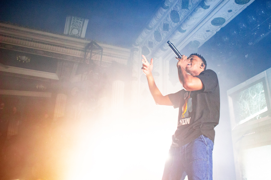 Vince Staples performs at A&O Ball. The rapper, who was voted the top choice for the event, performed for a full house.
