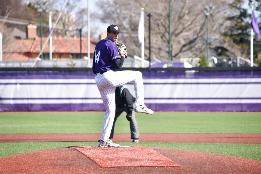 Parker Hanks prepares to throw. The freshman started his second midweek game this season against Notre Dame on Tuesday