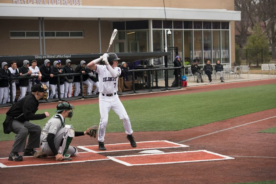 David Dunn steps up to bat. The freshman had only two hits in 10 at-bats during NU's series loss to Michigan this weekend.