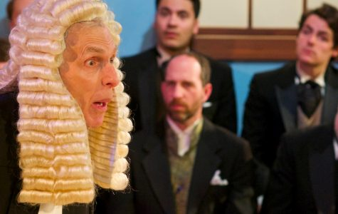 """Kingsley Day acts as The Learned Judge in """"Trial by Jury."""" The actor said he likes the intimacy of City Lit Theater."""