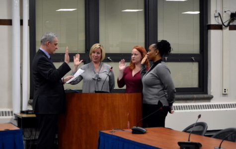 Six of seven elected D202 board seats filled by women after new members sworn in