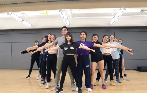 Members of Dale Duro in formation. The Latin dance crew was started last fall.