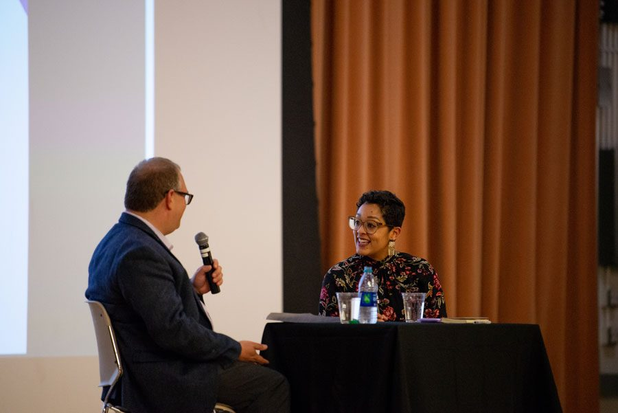 Dr. Eve Ewing. The sociologist and writer spoke on her experience as a woman of color in a primarily white University at a Tuesday event.