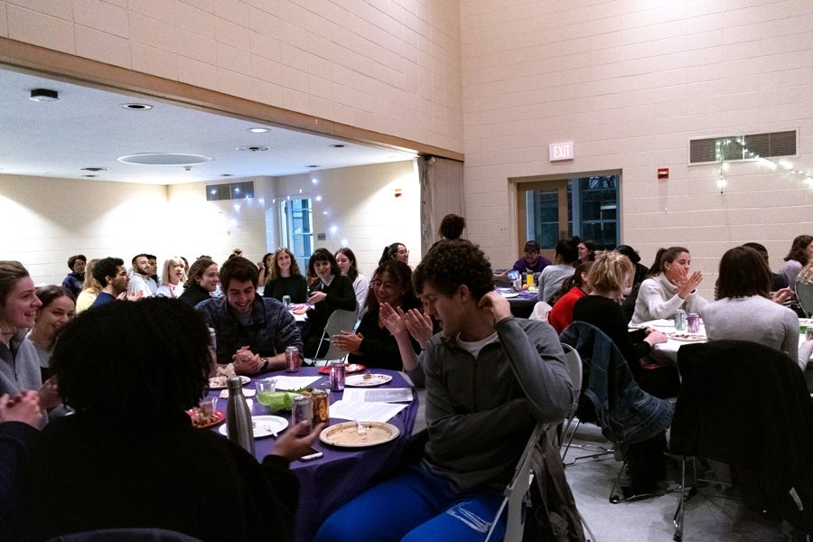 Over+100+students+attended+Northwestern%E2%80%99s+Freedom+Seder%2C+the+first+since+2014.+The+event+discussed+several+topics+including+the+similarities+between+Jewish%2C+Palestinian+and+black+struggles.