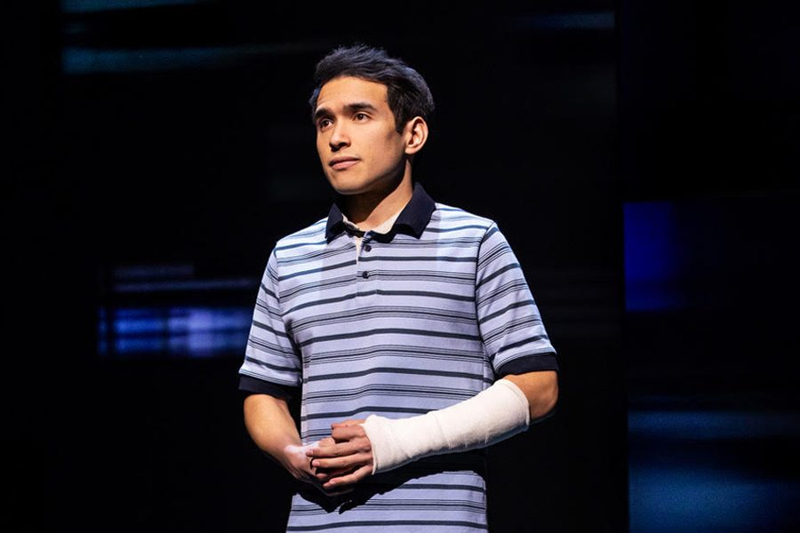"Zachary Noah Piser playing Evan Hansen in the Toronto production of ""Dear Evan Hansen"" where he is the alternate, being the first Asian-American actor to be cast as the role."