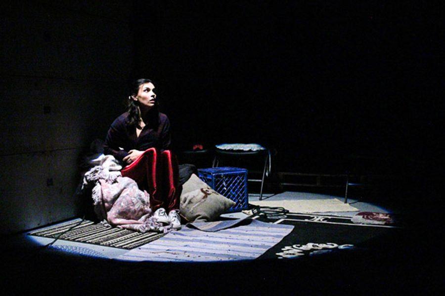 "Communication senior Simi Ball plays Natalie, the teenage intern, in Redtwist Theatre's ""Herland."""