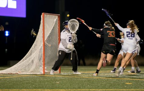 Mallory Weisse makes a save. The senior goalkeeper has been a steady presence in the net for the Wildcats in their recent wins.