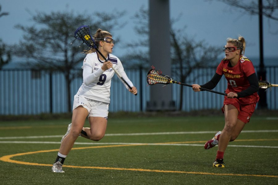 Senior Liza Elder makes a move in a 2017 game against Maryland. The Cats will try for their first win over the Terrapins since 2012 on Thursday.