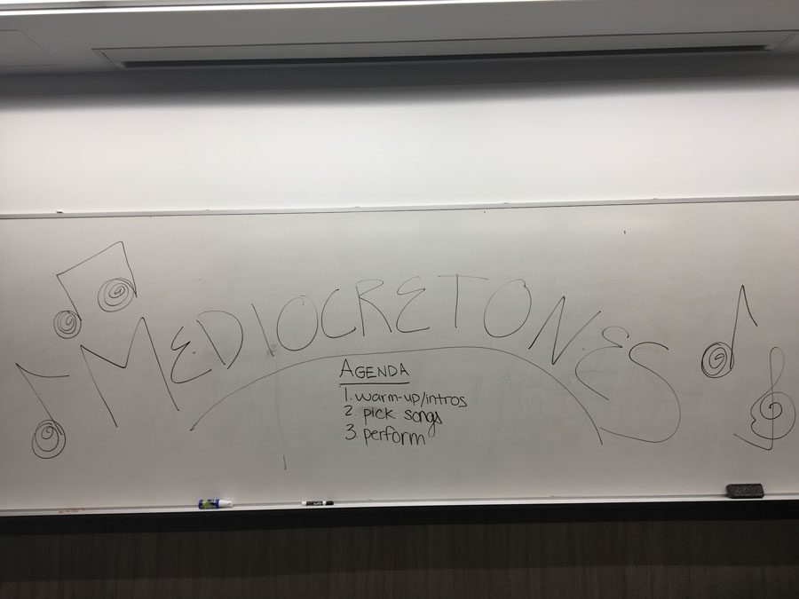 Medicretones is a new a cappella group on campus. The group held auditions in Kresge Hall for all those unable to sing.