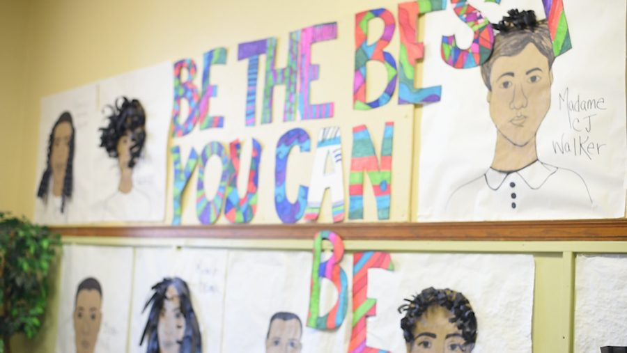 Artwork on walls of the Evanston Family Focus Center, 2010 Dewey Ave. The center opened in Evanston in 1976 to provide community and encourage childhood development.