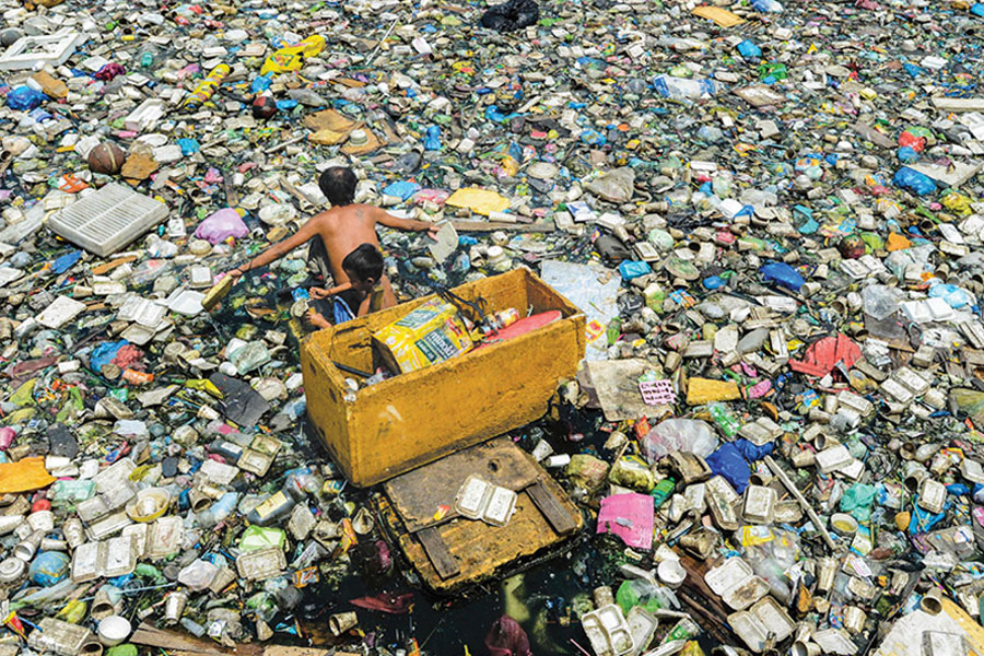 Plastic in Manila, Philippines. The Program on Plastics, Ecosystems and Public Health aims to investigate the effects of plastic usage.
