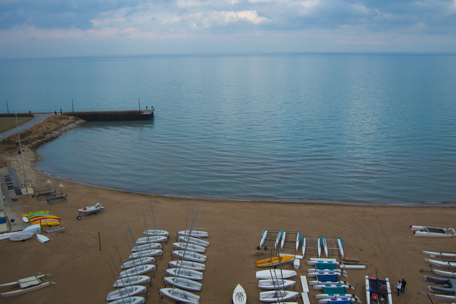 Lake Michigan. Experts released a report on the effects of climate change on Lake Michigan.
