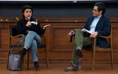 "Gabriela Rodriguez speaks at A&O event. Rodriguez, the producer of the award-winning ""Roma,"" discussed the challenges of working on the film."