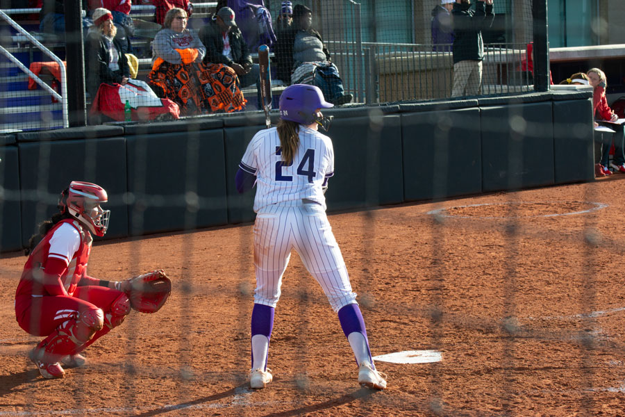 Danielle Williams steps up to the plate. The freshman hit her second home run of the season against Illinois on Tuesday.