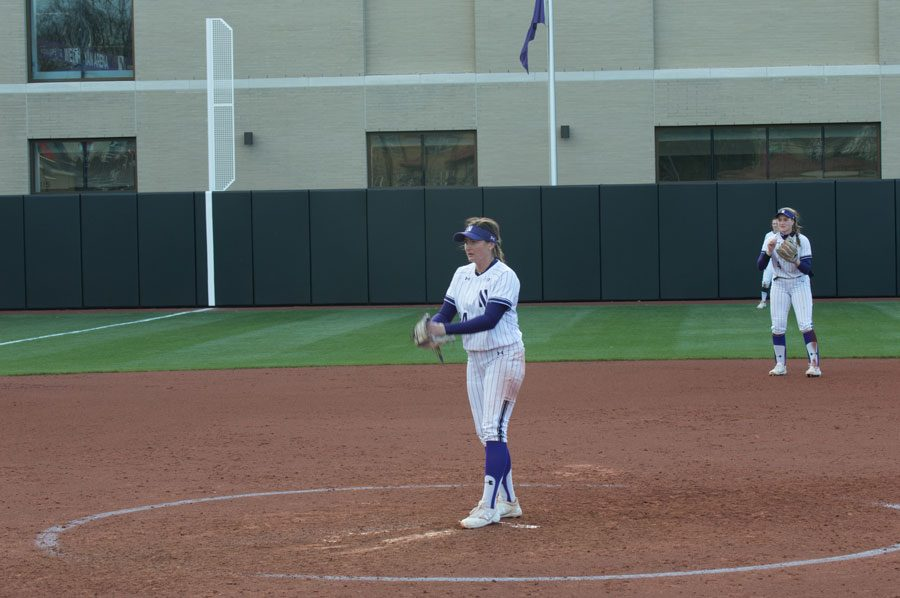 Danielle Williams stands at the mound. The freshman was named a finalist for the USA Softball Player of the Year award this week.