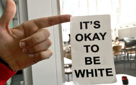 University Police investigating sticker with white supremacist slogan 'It's okay to be white'