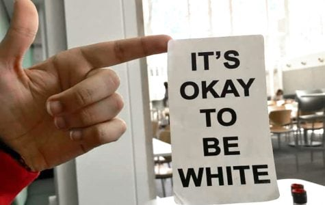 White supremacist 'It's okay to be white' sticker found in dining hall