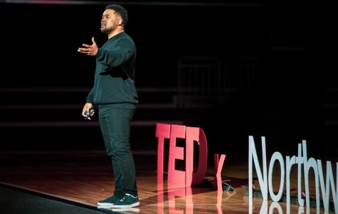 Neal Sáles-Griffin speaks at TEDxNorthwesternU. TEDxNorthwesternU is one of the few TEDx talks in the country entirely run by student