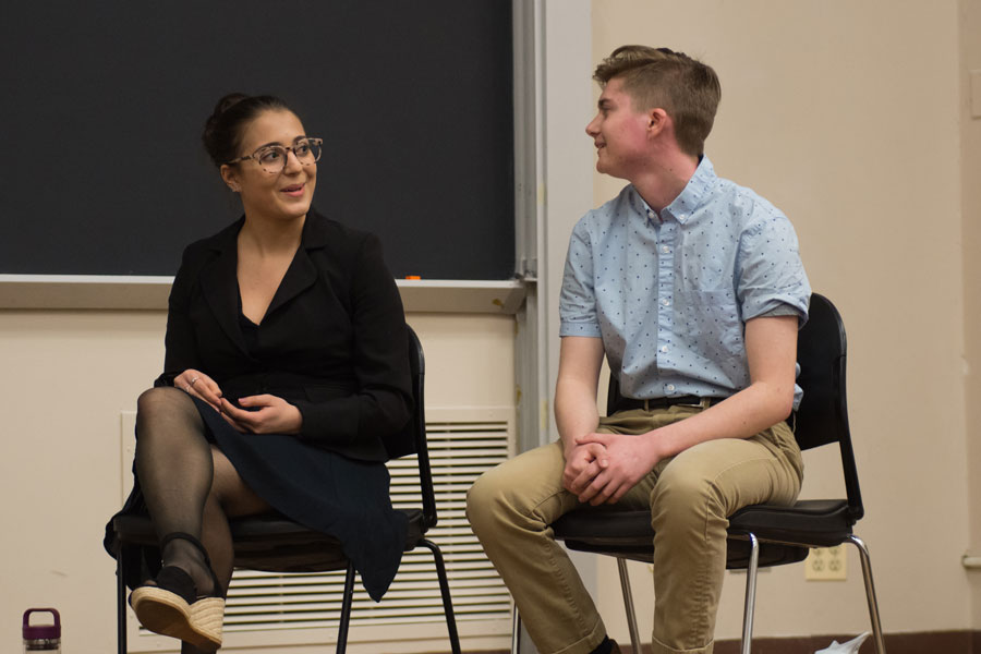 SESP junior Izzy Dobbel and her running mate Adam Davies, also a SESP junior. The two are currently running uncontested for ASG President and Executive Vice President.