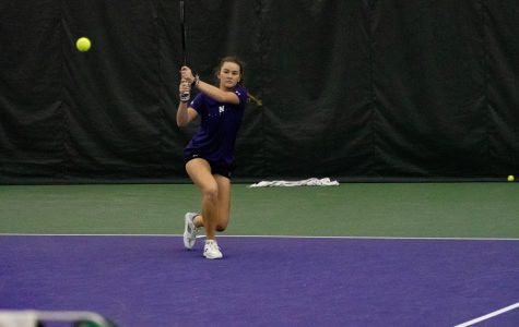 Clarissa Hand hits a shot. The freshman picked up her sixth ranked win in this weekend's Big Ten Tournament.