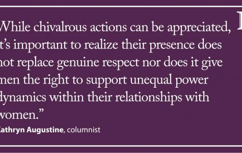 Augustine: Treating women respectfully extends beyond chivalry