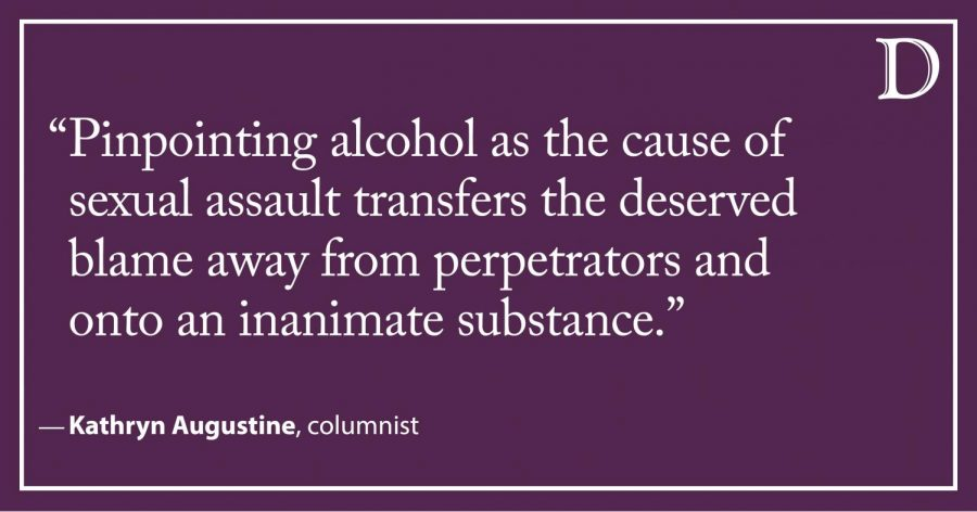 Augustine: Alcohol should not be a mask for sexual assault