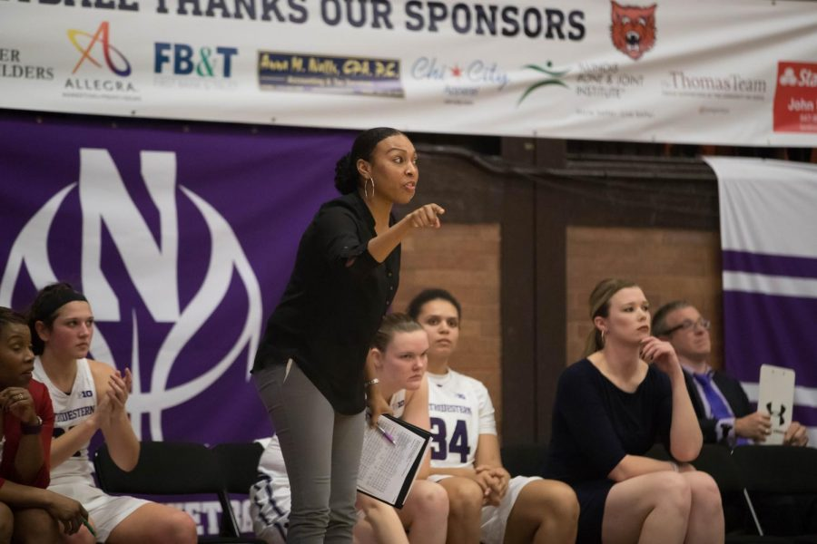 Former Northwestern women's basketball coach Tiffany Coppage. Coppage coached for the Wildcats for two years before leaving for the University of Alabama.