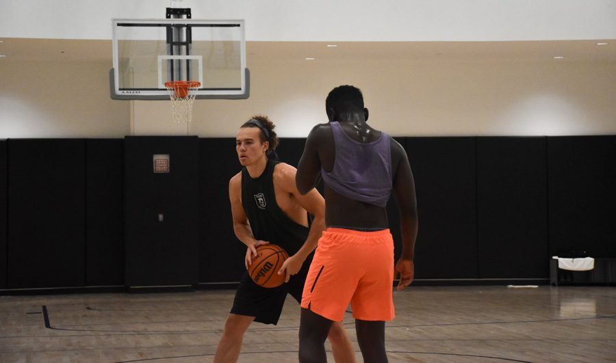 Student group The Collective hosted a basketball game Wednesday in the Henry Crown Sports Pavilion as part of its first Black Boy Joy Week.