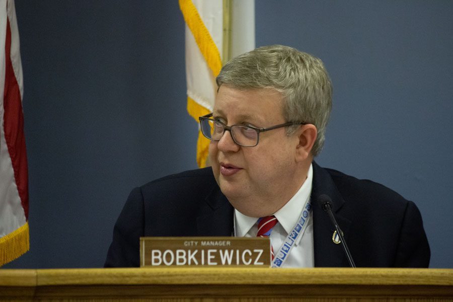 City manager Wally Bobkiewicz. Bobkiewicz hosted the Robert Crown community meeting Thursday.