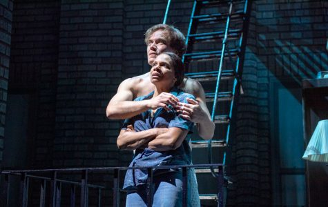 "Six-time winner Audra McDonald and one-time Tony nominee Michael Shannon in ""Frankie and Johnny in the Clair de Lune."" The Broadway show is currently in previews, and will open on May 30."