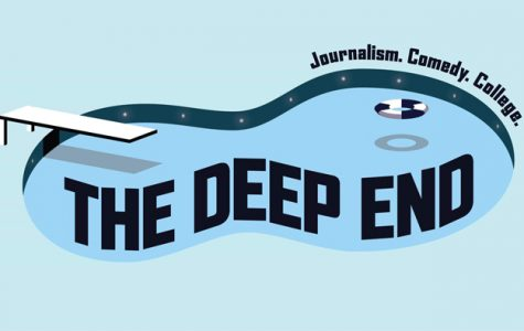 The Deep End's logo. The new student organization aims to produce a quarterly 15-minute piece that combines investigative journalism with comedic presentation.