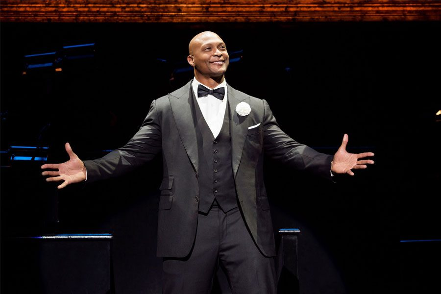 Eddie George goes from running plays to running lines