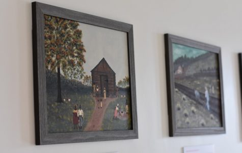 "Part of the ""Up from Down Home"" series by local artist Jevoid Simmons. The new exhibit opened at the Lorraine H. Morton Civic Center on May 10."