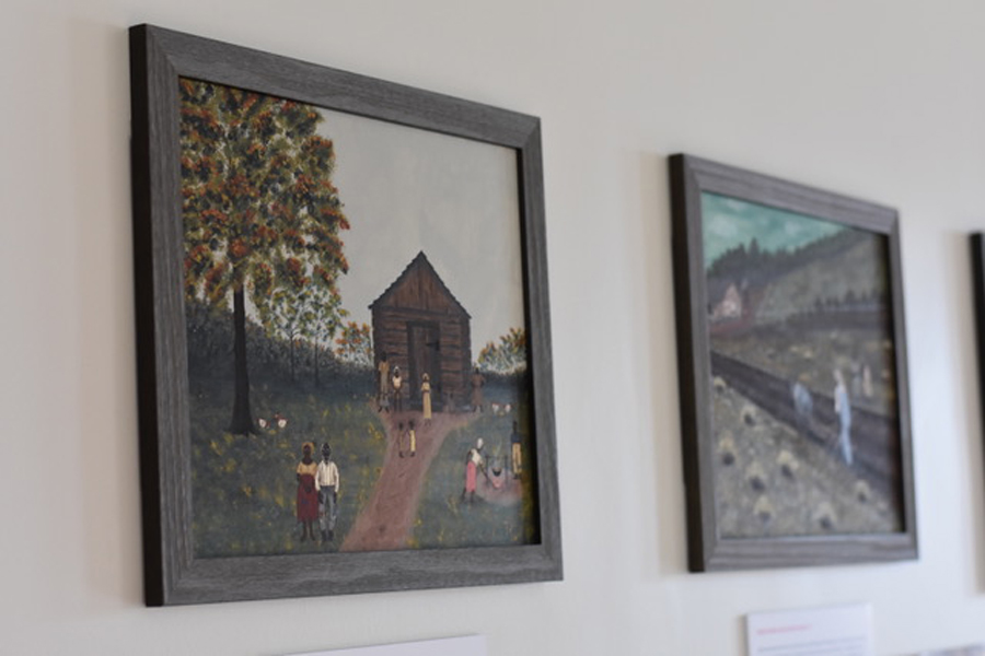 """Part of the """"Up from Down Home"""" series by local artist Jevoid Simmons. The new exhibit opened at the Lorraine H. Morton Civic Center on May 10."""