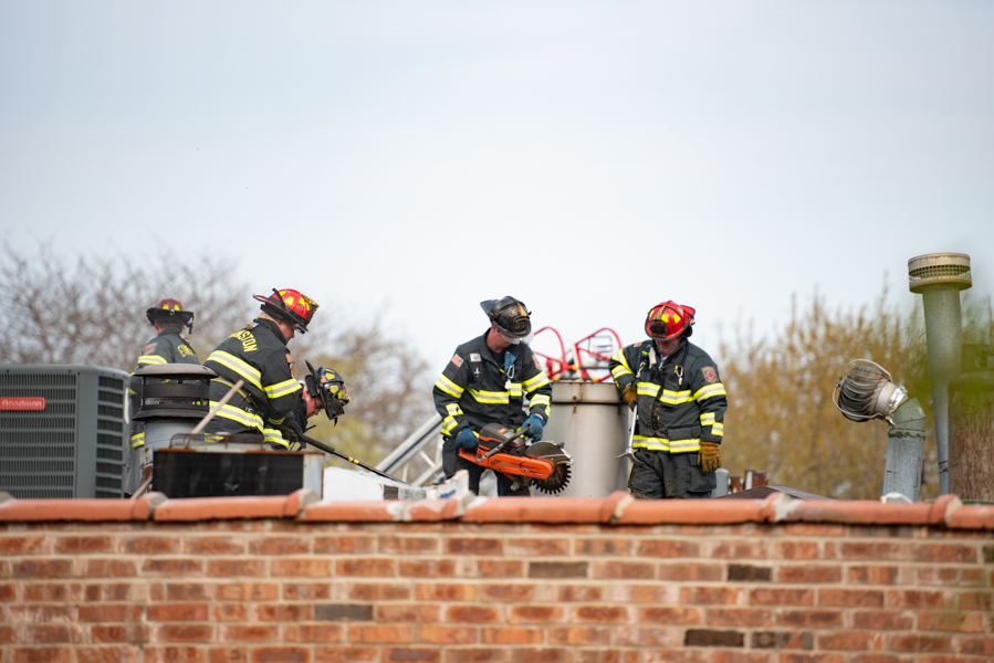 Evanston+firefighters+use+a+fire+rescue+saw.+Many+have+turned+to+peer+support+groups+after+experiencing+job-related+trauma.