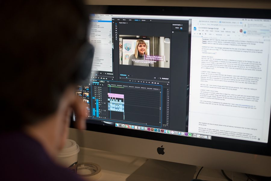 A Daily staffer edits a video. In recent years, the video desk and other multimedia sections have expanded the scope of their coverage.