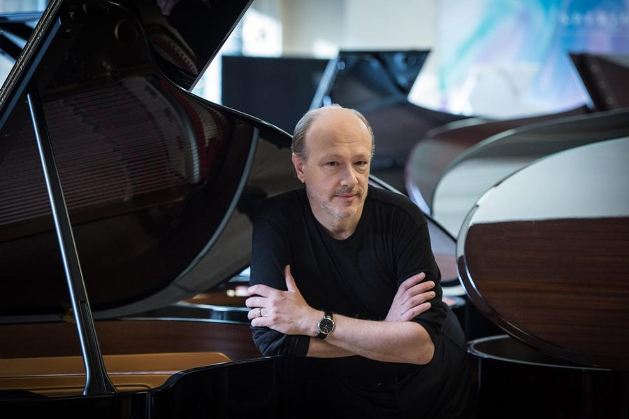 Marc-André Hamelin was awarded the Bienen School of Music's 2018 Jean Gimbel Lane Prize in Piano Performance, which honors pianists who have achieved the highest levels of national and international recognition.