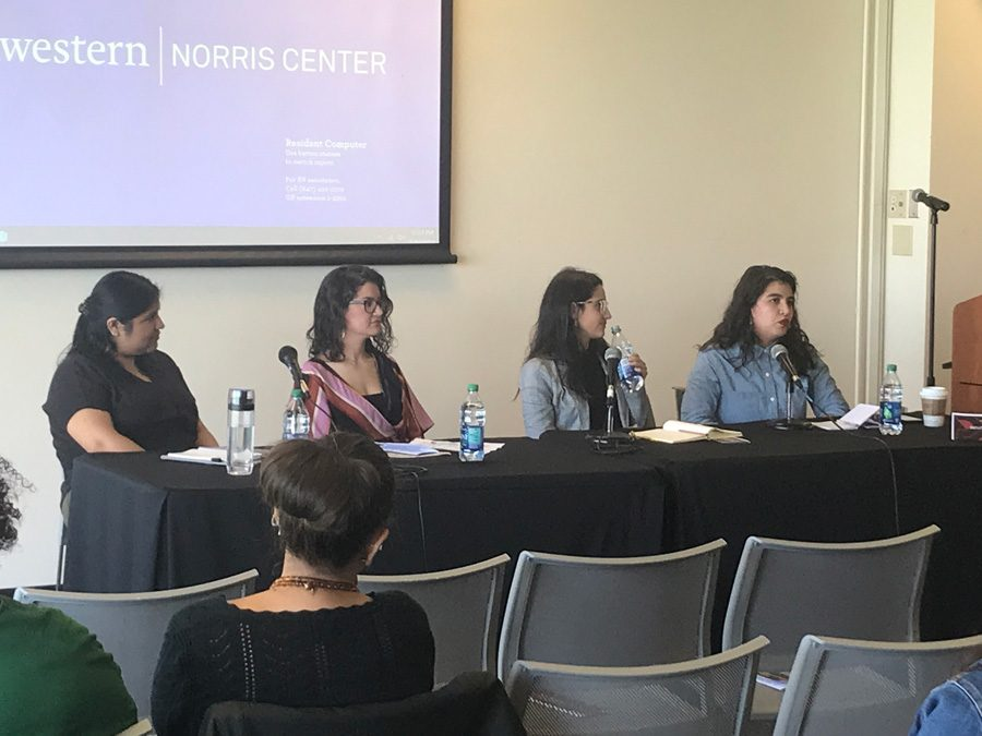 Panelists+speak+at+Latinx+studies+event.+The+symposium+saw+faculty+reflect+on+the+first+10+years+of+Northwestern%E2%80%99s+Latina+and+Latino+Studies+Program.