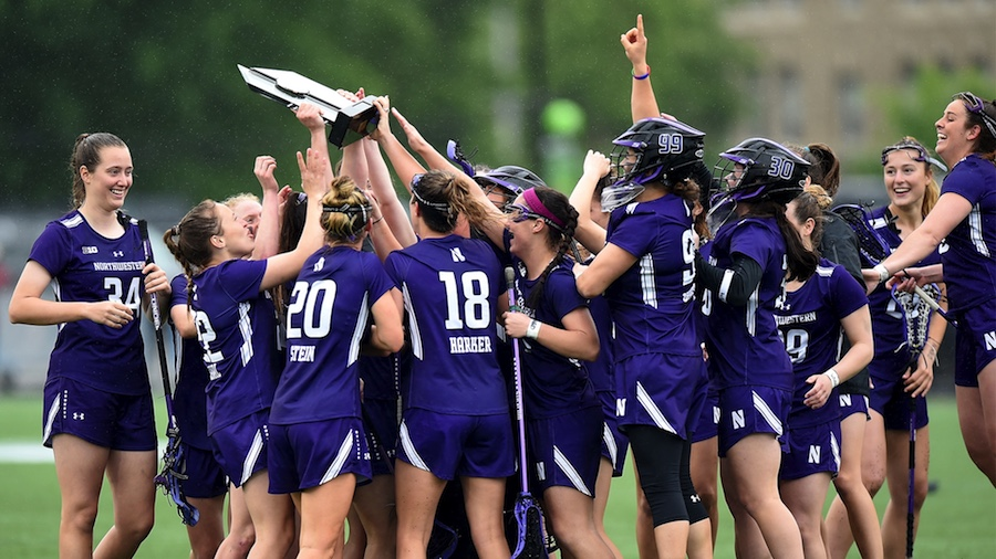 The Wildcats celebrate. NU won its first-ever Big Ten Tournament crown in an upset over Maryland on Sunday.