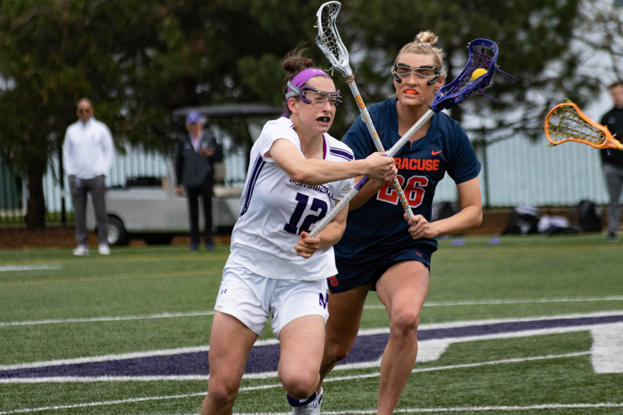 Megan Kinna evades a defender. The junior and the Wildcats will look for another win over top-ranked Maryland in the national semifinals Friday.