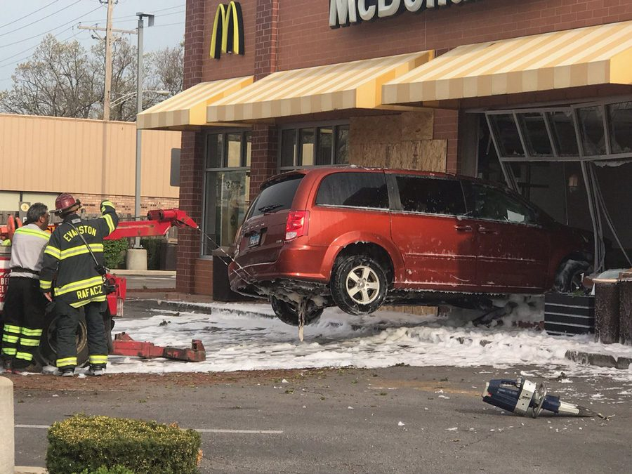 EPD issued two citations to a driver who crashed into a McDonald's early Thursday morning.