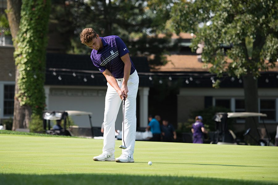 Ryan+Lumsden+putts.+The+senior+ended+his+NU+career+with+a+tied-for-20th+place+individual+finish+at+the+NCAA+Myrtle+Beach+Regional.