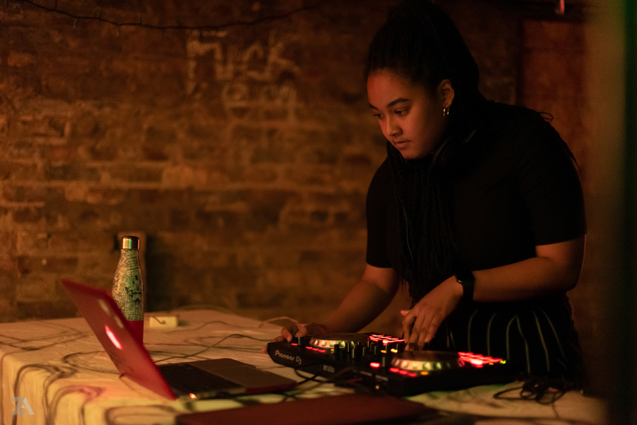 """Communication senior Faalon Andrews was one of four female acts at """"Girls That Mix."""""""