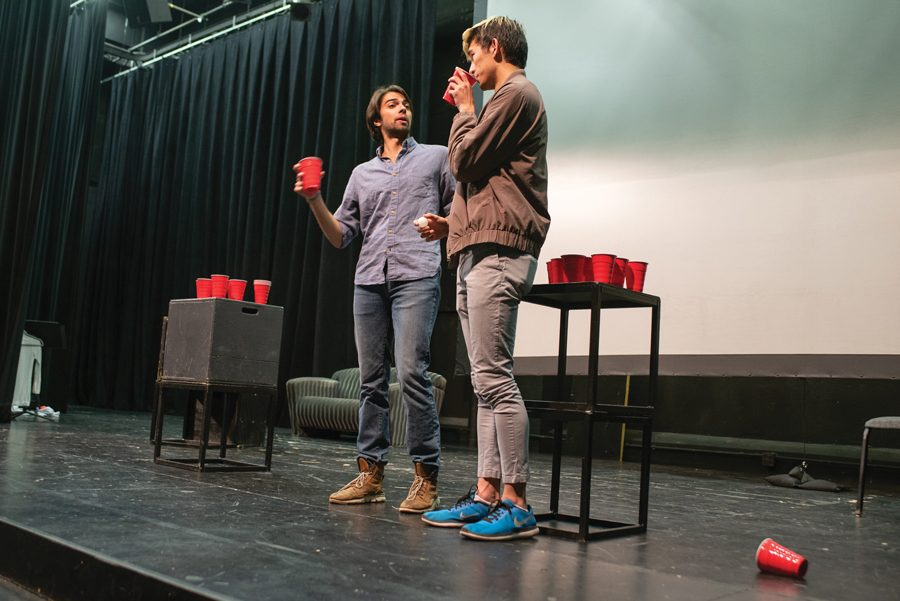 Project+NU+cast+members+rehearse+for+their+show.+Head+writer+Janet+Lee+said+it+was+focused+on+Asian+and+Asian+American+experiences+in+college.