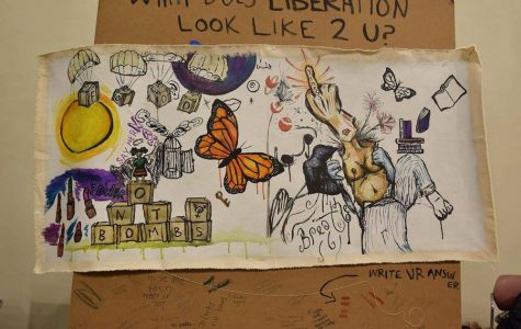 A live mural from the first Living in Color artist showcase in 2015 — the artists made the piece during the event.