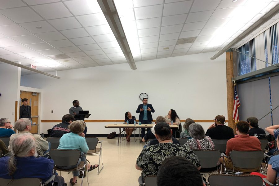 City+clerk%E2%80%99s+office+hosts+Democratic+Socialists+panel.+Participants+discussed+the+ideology+and+its+implementation+at+the+local+level.