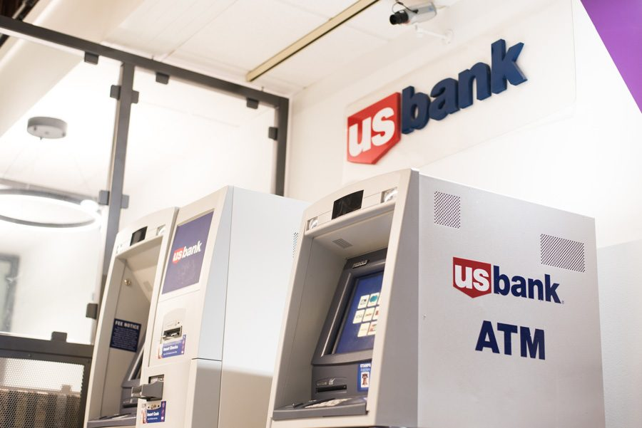The US Bank ATM machine in Norris University Center. Northwestern has a marketing agreement with US Bank.