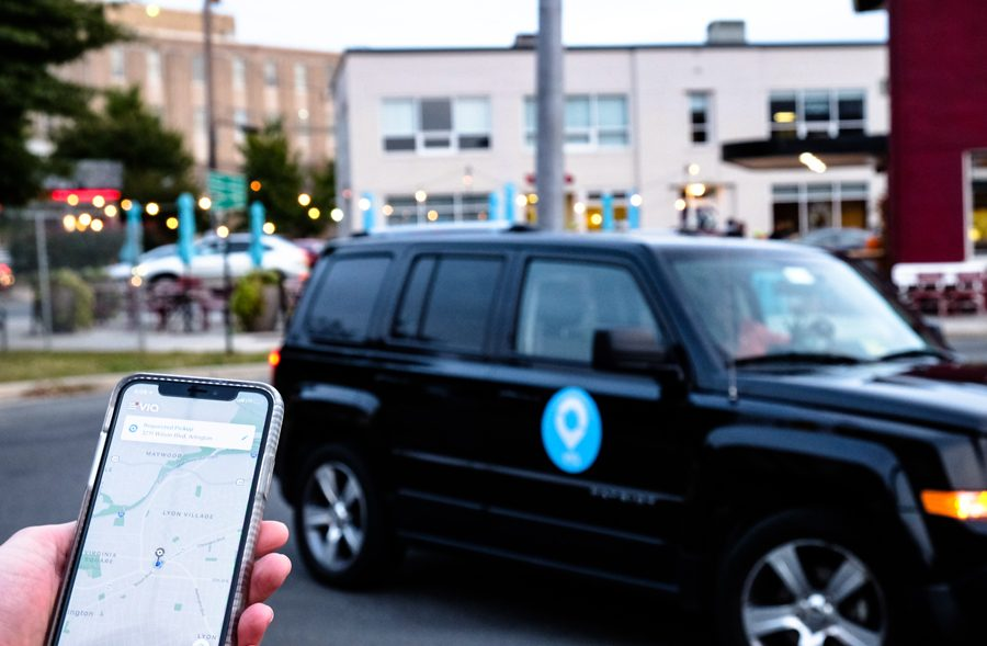 A Via vehicle. The shared ride service announced that it was expanding its area to include Evanston.
