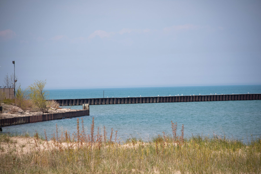 Lake Michigan. Evanston receives its drinking water from Lake Michigan, which the report said has vastly improved in water quality over the past 25 years.